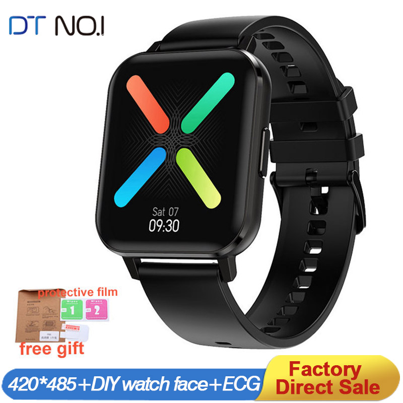DT NO 1 DTX Smart watch Men 420 485 IP68 ECG 1 78 inch big screen Multi-Sports Blood Pressure Oxygen  Wrist  SmartWatch PK L13