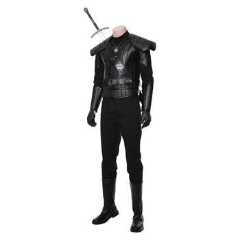 Geralt Cosplay Costume adult women men Witcher Leather armor Full Set Halloween Carnival Costume Custom Made 3