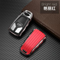 Чехол для автомобильного смарт-ключа чехол-бумажник из ТПУ с 3 кнопками для Audi A5 A6L QT S5 S7 8S S4 8W RS A4 A4L Allroad B9 Q5 Q7 TT TTS 8S 2016 2017