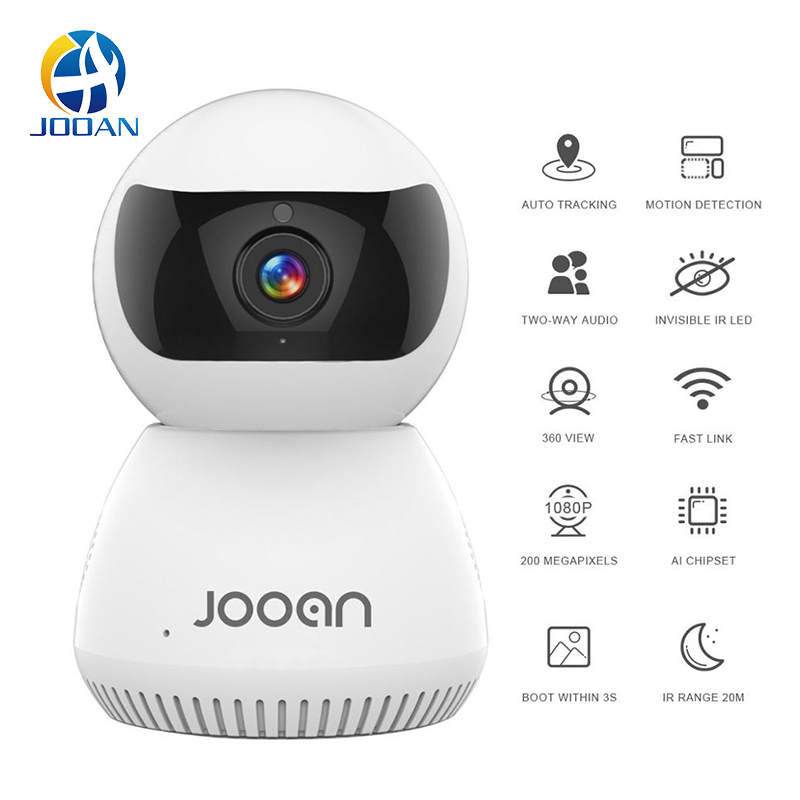Jooan AI Wifi Camera 1080P Home WiFi IP Cam Night Vision Smart Camera Webcam Video Surveillance Smart Tracking Security Camera