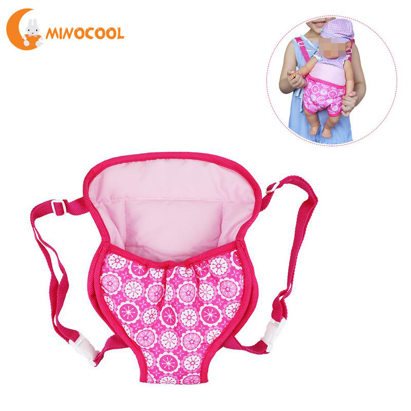 Doll Accessories 18 Inch Doll Carrying Bag Toy Backpack Outgoing Packets Suit For Carrying 43cm Baby Doll Toy