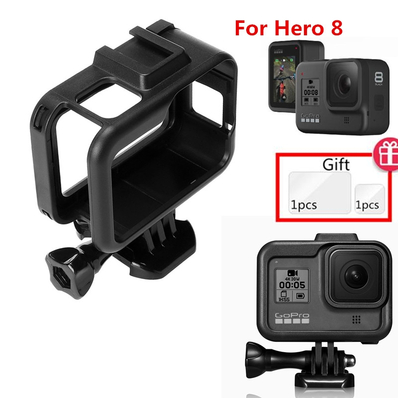 Suptig Accessories For Gopro Hero 8 Standard Protective Frame Housing Case Mount  Cover For GoPro Hero8  Black Camera  Case