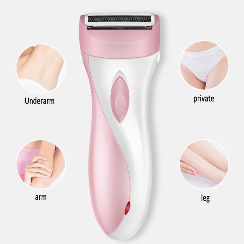 Woman shaving privates