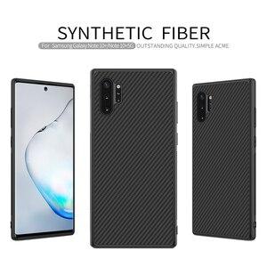 Для samsung Galaxy Note 10 + Note 10 Plus Nillkin синтетическая карбоновая Пластиковая Задняя крышка Ультратонкий чехол для телефона