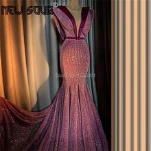 Long Train Arabic Evening Dress V Neck Dubai Celebrity Gowns Turkish Kaftans Custom Capped Sleeves 2020 Middle East Prom Dresses