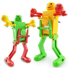 Toy Kid Clockwork Wind Up Dancing Robot Toy for Baby Kids Developmental Gift Puzzle Toys Great happiness Gift DropShipping(China)