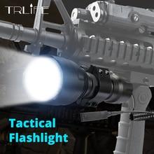 6000lumen 1 modus C8 LED Taschenlampe 5 Modi Taktische Taschenlampen T6/L2 Taschenlampe Wasserdichte Flash Licht Durch 18650 akku