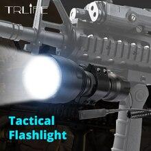 6000lumens 1 מצב C8 LED פנס 5 מצבים טקטי פנסים T6/L2 לפיד Waterproof פלאש אור על ידי 18650 נטענת סוללה