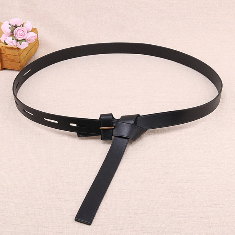 2020 Wide Belt New Fashion Spring Trendy Leather Corset Belts For Women Black Solid All-match Knotted Waistband Female ZK271