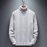 2020 New Men's Sweaters High necked Winter Knitsweater Sveels Solid colored Elastic Sweater 9999