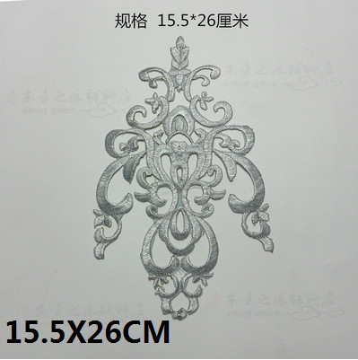 1Pair/1pc Gold Silver Applique Clothing Embroidery Patch Fabric Adhesive Sticker Iron On Patch Craft Sewing Repair