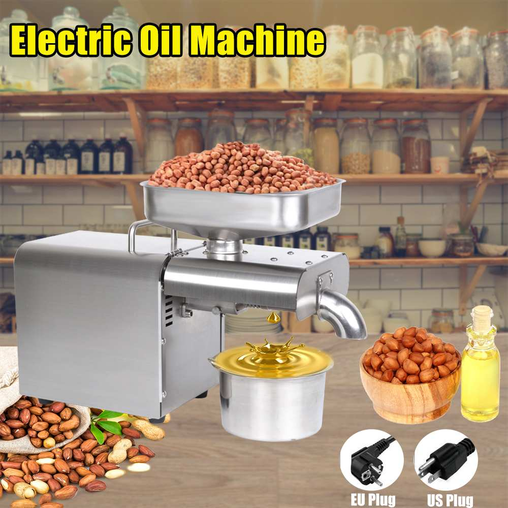 1500W 110V/220V Automatic Olive Oil Press Cold Press Oil Machine Oil Cold Press Machine Sunflower Seeds Oil Extractor Free Ship