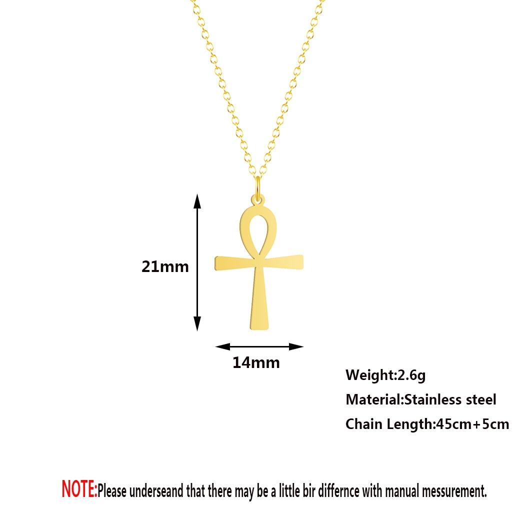 H3e049dc5c1fa467081a14a7aeea1c6866 Colar Egipcio Egito Pingente de amuleto egípcio, colares com crucifixo, pingentes em aço inoxidável, símbolo da vida, colares com cruz, joias de presentes