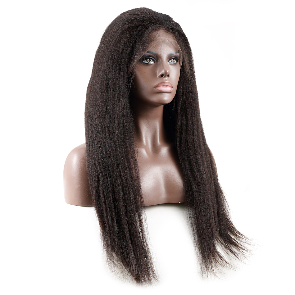 <font><b>Luvin</b></font> OneCut <font><b>Hair</b></font> Kinky Straight 250 density 13x6 Glueless Front Lace Wigs Black Women Brazilian Frontal Wig Pre Plucked image