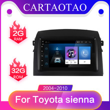 Android 8,1 Auto Multimedia video Player Für Toyota Sienna 7 zoll Auto Stereo 2 din 2004-2010 Auto Radio GPS Navigation radio 2Din