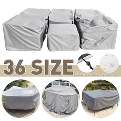 Multiple Size Outdoor Furniture Cover Sofa Chair Table Cover Rain Snow Dust Covers Waterproof Cover Gray