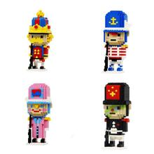 hot LegoINGlys creators Classic doll assamable nutcracker figure mini micro diamond building blocks model nano bricks toys gift стоимость
