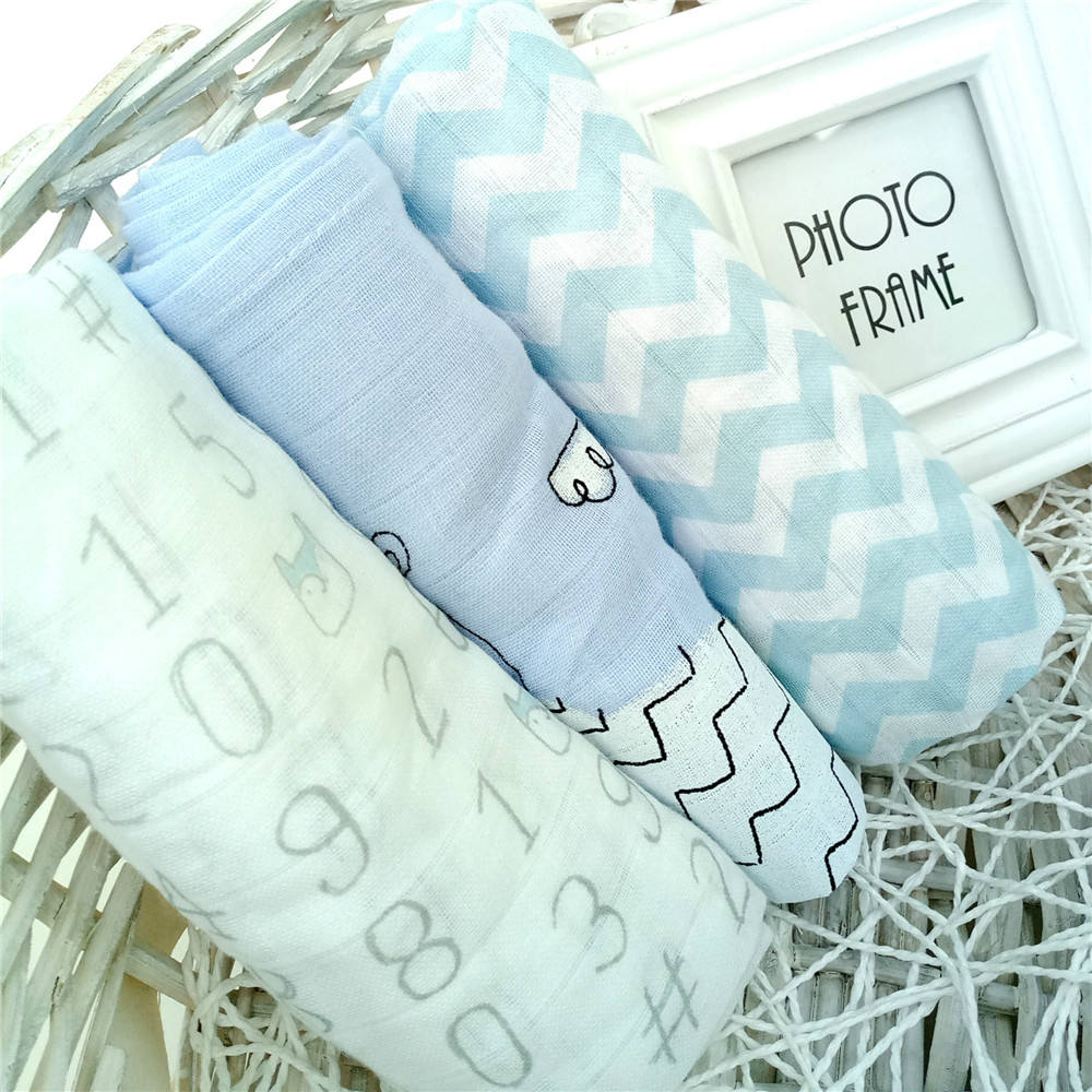 3 Pieces Diapers For Newborn Muslin Cotton Nappy Baby Reusable Diapers Repeated Use Gauze Blanket Cloth Nappies 70*70 Cm