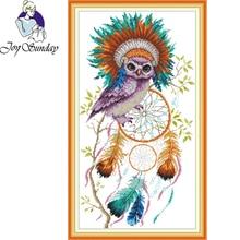 цена на Joy Sunday,Owl,cross stitch embroidery kit,Cartoon cross stitch pattern,cross stitch needlework,Animal pattern cross stitch kit