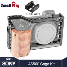 цена на SmallRig 6500 Camera Cage Kit for Sony A6500 Camera With Wooden Handle Grip Form fitting A6500 cage Stabilizer 2097