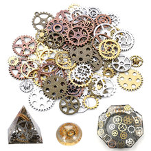 100g/lot Silver Gold Color Zinc alloy Epoxy filling Material UV Resin Gear Jewelry Filling Gearwheel Fit Jewelry Making DIY