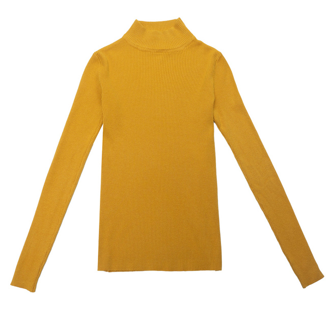 Marwin New-coming Autumn Winter Turtleneck Pullovers Sweaters Primer shirt long sleeve Short Korean Slim-fit tight sweater 10