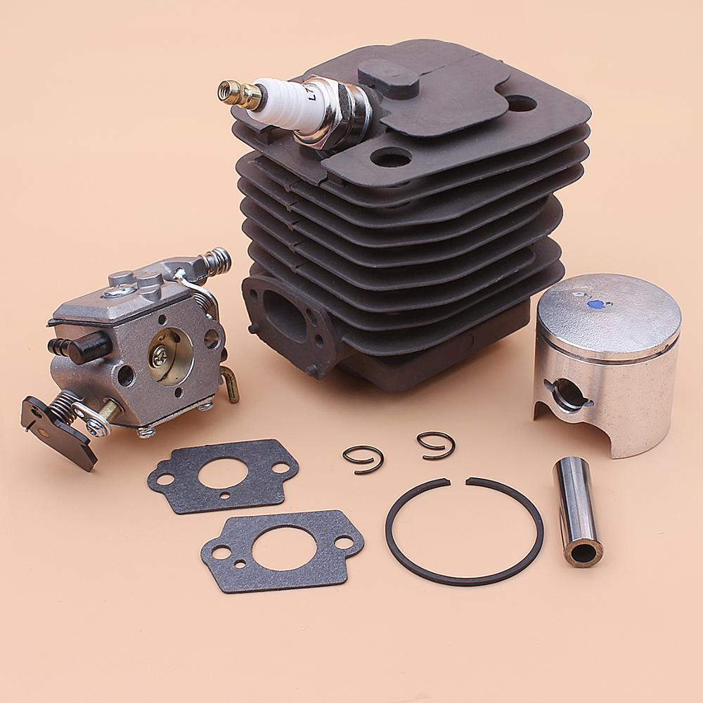 39mm Cylinder Piston Carburetor Kit For Chinese Chainsaw 3800 38cc Spark Plug Gasket Replace Part