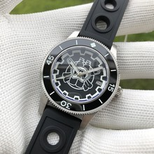 Steeldive1952-pro retro masculino 300 m mergulho automático relógio mecânico à prova dwaterproof água relógios luminosos bgw9 enlatado nova moda