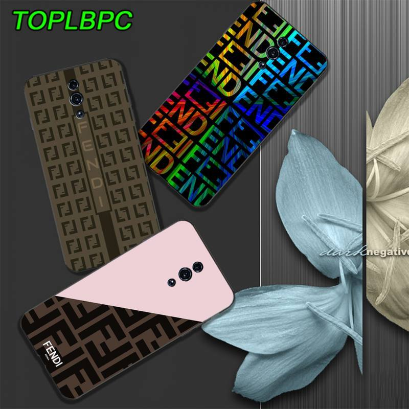 TOPLBCS Fendi mobile phone <font><b>case</b></font> cover for <font><b>Samsung</b></font> galaxy A6 A7 2017 2018 A9 A10 A20 A30S <font><b>A40</b></font> A50 A70 A80 funda image