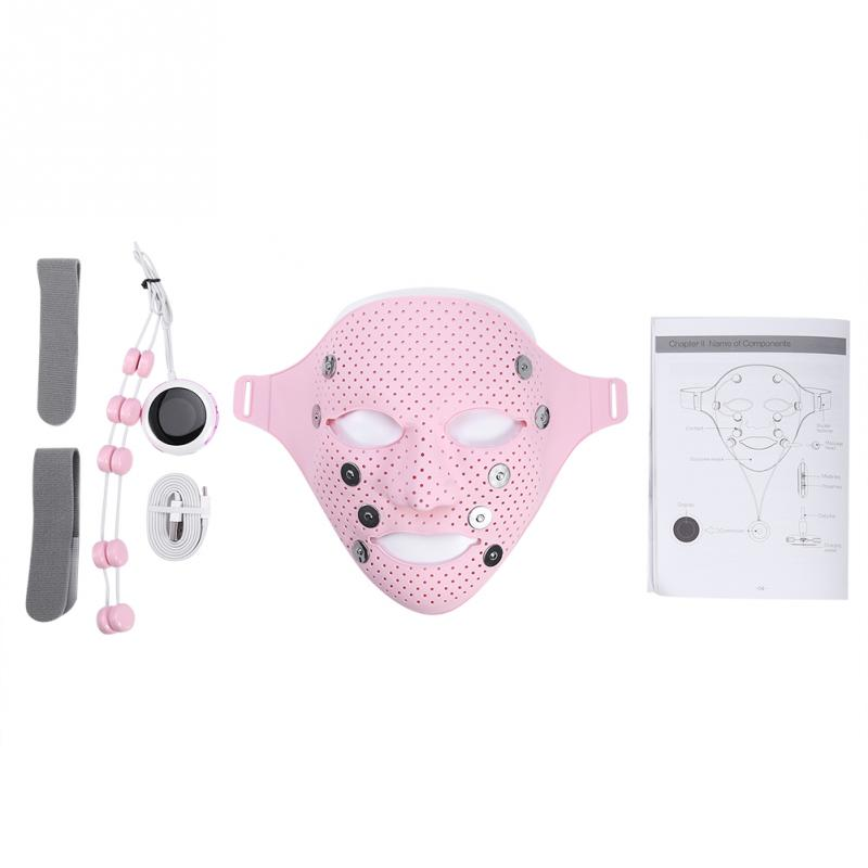 Silicone Facial Mask Electric EMS Vibration Beauty Massager for Skin Care Rejuvenation Anti-wrinkle Acne Removal Face image