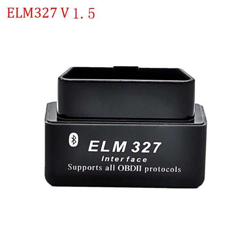Супер ELM327 V1.5 Мини ELM327 Bluetooth адаптер OBD2 elm327 автоматический диагностический интерфейс ELM 327 OBDII автомобильный считыватель кодов проверочный двигатель - Цвет: elm327 V1.5black