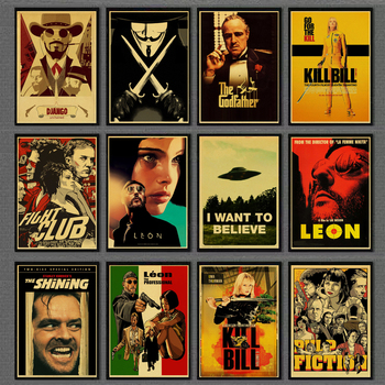 Classic Nostalgic Movie Poster Leon/Fight Club/Pulp Fiction/Shining/Kill Bill/Godfather Posters and Prints Retro Wall sticker gringo movie poster posters