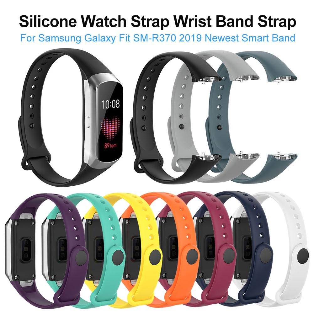 Silicone Sport Watch Strap Wrist Band Strap For Samsung Galaxy Fit SM-R370 Smart Bracelet Watch Strap Accessories