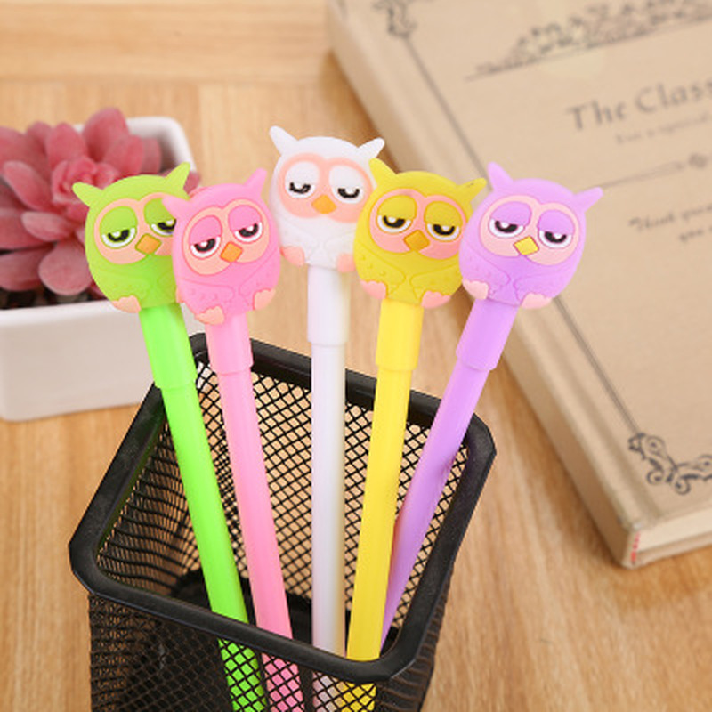 1pcs Owl Gel Pen 0.5mm Cute Pens Novelty Kawaii Gel Pens Student Stationery Kawaii Pen Signature Pen Kawaii School Supplies