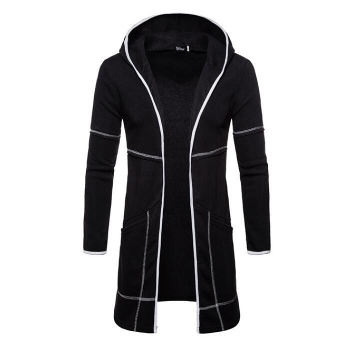 Hot 2020 Mens Full Zipper Jacket Coat Warm Trench Long Sleeve Overcoat Casual Outwear Cardigan