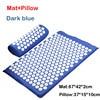 Mat pillow D blue