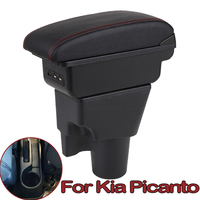 Para Kia Picanto Picanto3X-Line Caixa Braço Caixa de Armazenamento de apoio de Braço Central Do Carro Universal Modificação Acessórios
