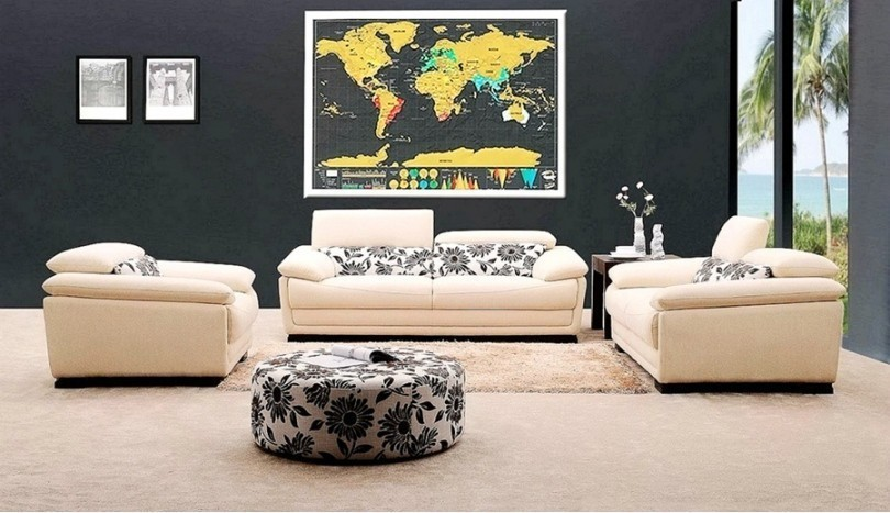 1Piece Deluxe Black Scratch Off World Map 82.5 X 59.4cm As Room Decoration Wall Stickers 3