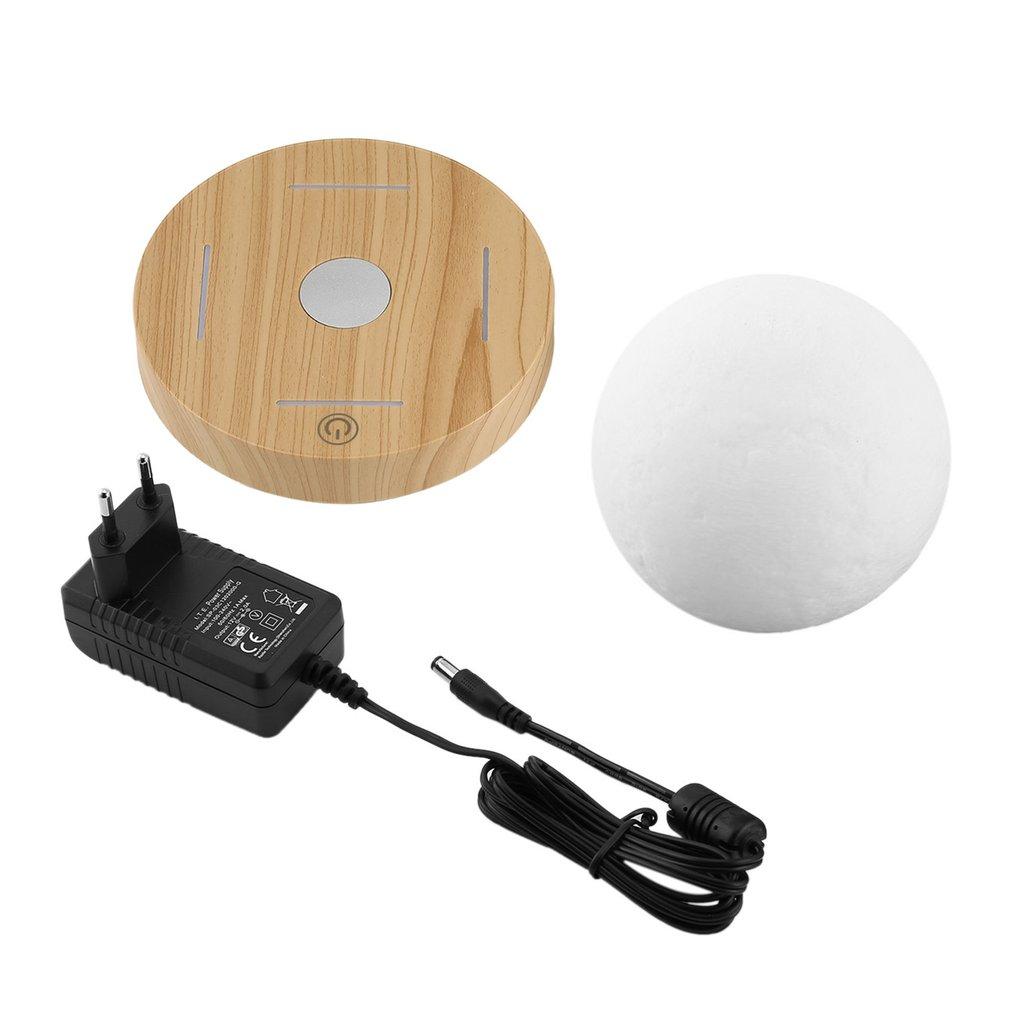 Lampe de lune 3D en lévitation magnétique 360 Base en bois rotative 10cm lampe de nuit flottante lumière romantique décoration de la maison pour chambre