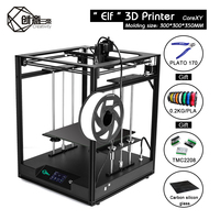 Creativity 3d printer CoreXY ELF kit Large Size Full Metal Frame Diy Kit Lattice Glass Silent Drive 3.5Inch Color Touch Screen