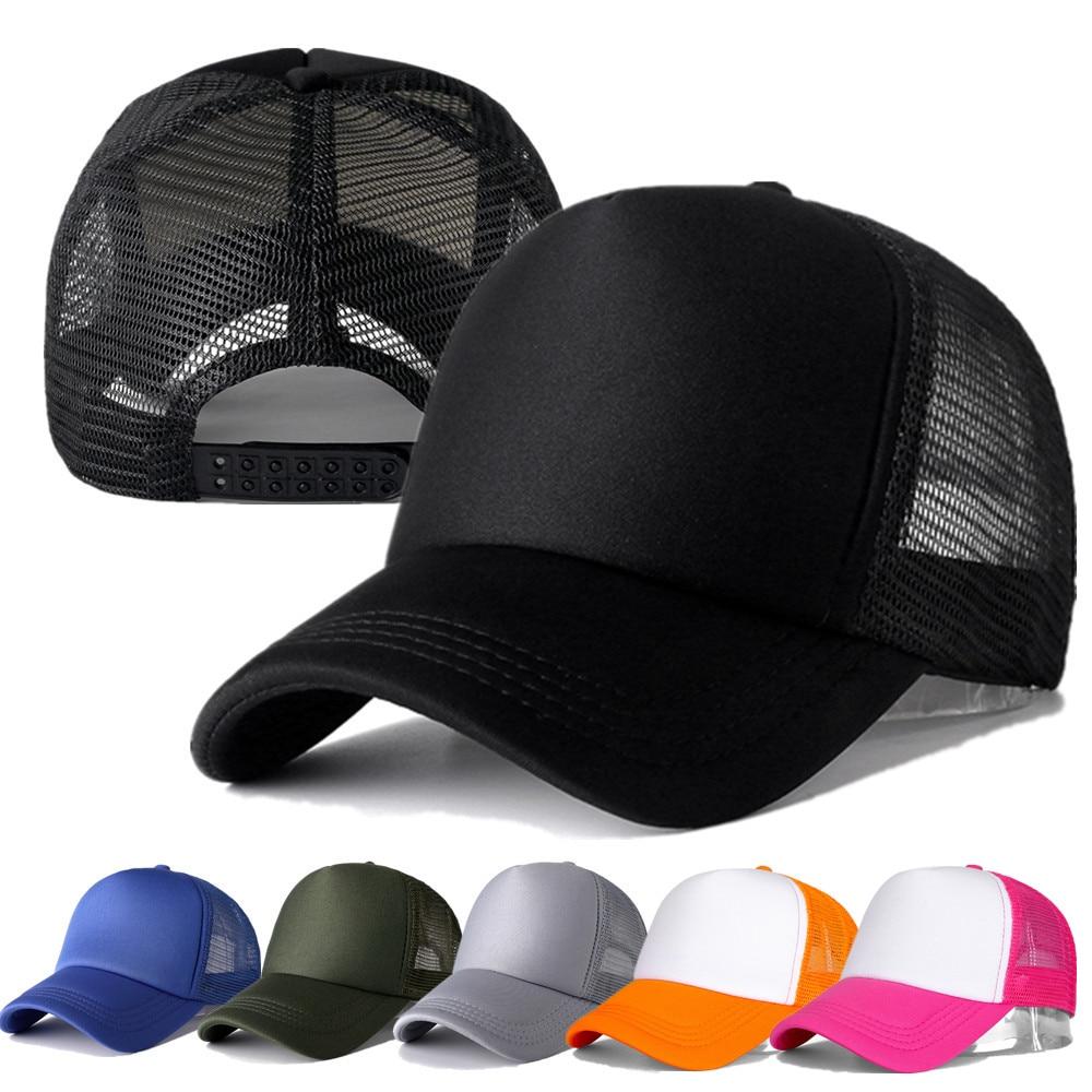 1 pz berretto Unisex Casual berretto da Baseball in maglia tinta unita cappelli Snapback regolabili per donna uomo Hip Hop Trucker Cap Streetwear cappello papà 1