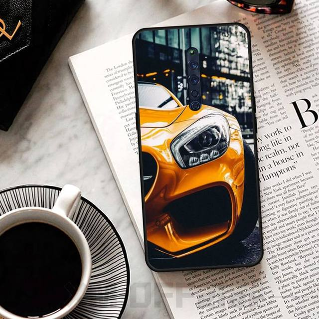 Mantin BMW sport voiture noir coque souple coque de téléphone Capa pour OPPO R11 11S plus RENO 2Z R15pro R17pro Realme 2 3 3 5 5pro C2