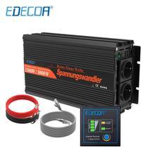 EDECOA عاكس الطاقة 12 فولت 220 فولت 1500 واط نقية شرط موجة 12 فولت إلى التيار المتناوب 220 فولت 230 فولت خارج الشبكة محول مع جهاز التحكم عن بعد