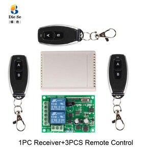 Image 5 - Módulo sem fio universal do receptor do relé da c.a. 85v 433 v 2ch do controle remoto de 220 mhz para a luz eletromecânica da lâmpada da porta da garagem