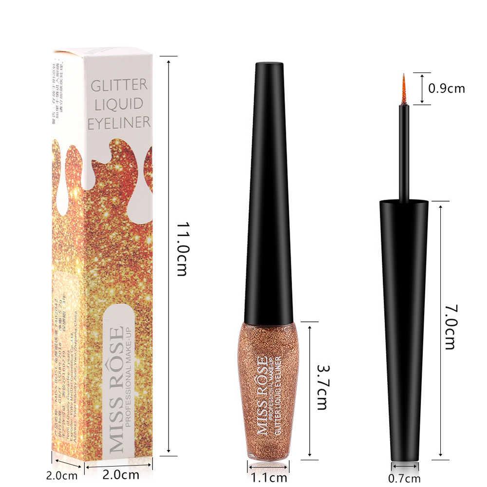 Miss rose 6 couleurs paillettes Eyeliner métallisé miroitant yeux Liner diamant imperméable liquide Eyeliner maquillage durable cosmétique TSLM2