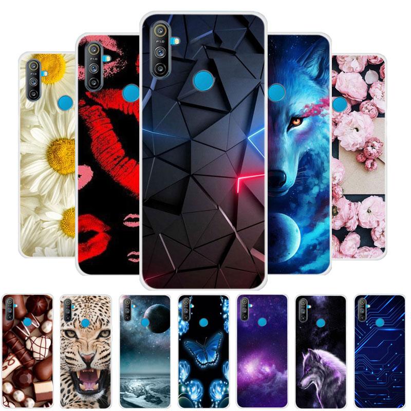 For OPPO Realme C3 Case RMX2020 Bumper Silicone TPU Soft Phone Cover For OPPO Realme C3 C 3 RealmeC3 Cases Cartoon fundas
