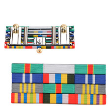 Colorful Ribbons Elegant Army Medal Army Level Qualification Card for Uniform Metal and Cloth Badge Emblem for Show Collection