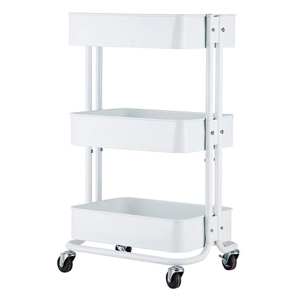 3-Tier Home Kitchen Storage Cart Utility Cart Multifunction Trolley Service Shelves Cart Simply Kitchen Furniture