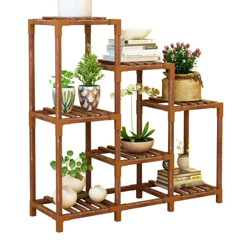 Indoor Solid Wood Flowerpot Frame A Living Room Multi-storey Landing Type Potted Plant Balcony Simple  Easy Shelf