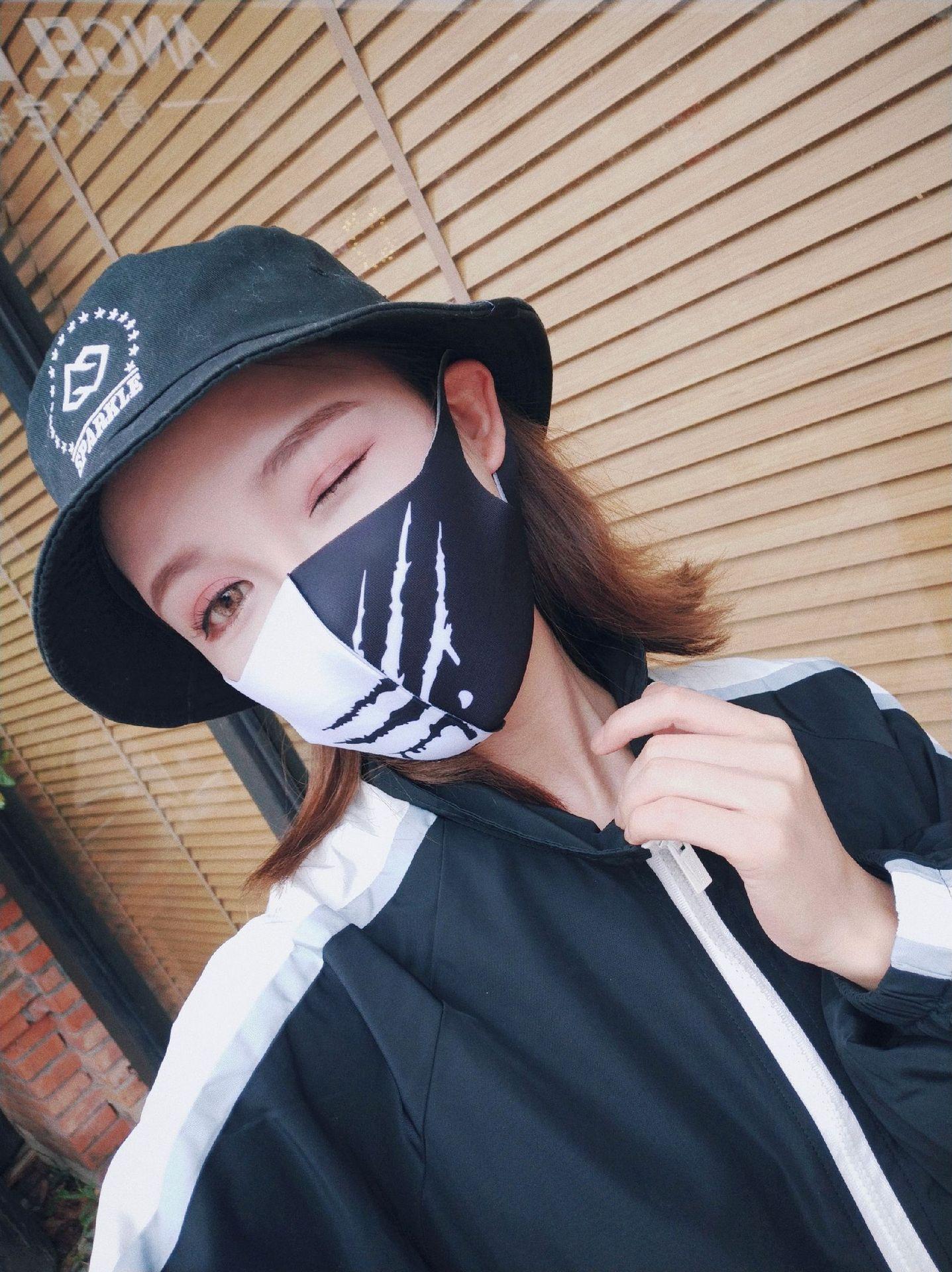 2020 Style Sponge Face Mask Black Breathable Mouth Mask Reusable Anti Pollution Face Shield Wind Proof Unisex Sponge Face Mask